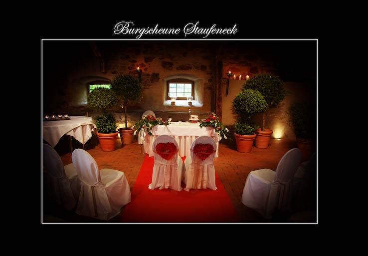 Hochzeit Burg Staufeneck Scheune